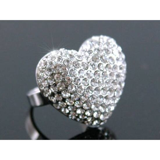 Swarovski kristályos gyűrű 58