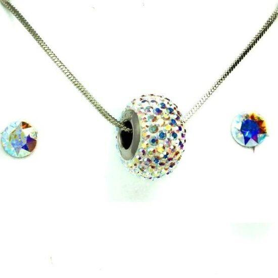 Swarovski kristályos szett - Virág, Light Siam + díszdoboz