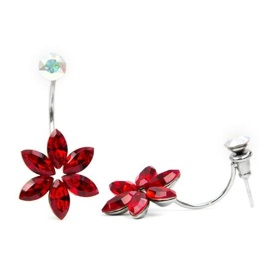 Swarovski® kristályos nemesacél fülbevaló - Light Siam
