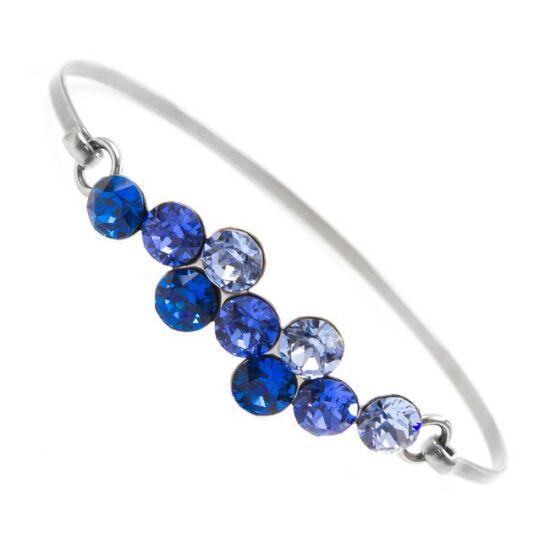 Swarovski® kristályos nemesacél karperec - kék