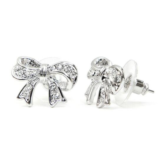 Syna Swarovski kristályos fülbevaló - Ezüst színű