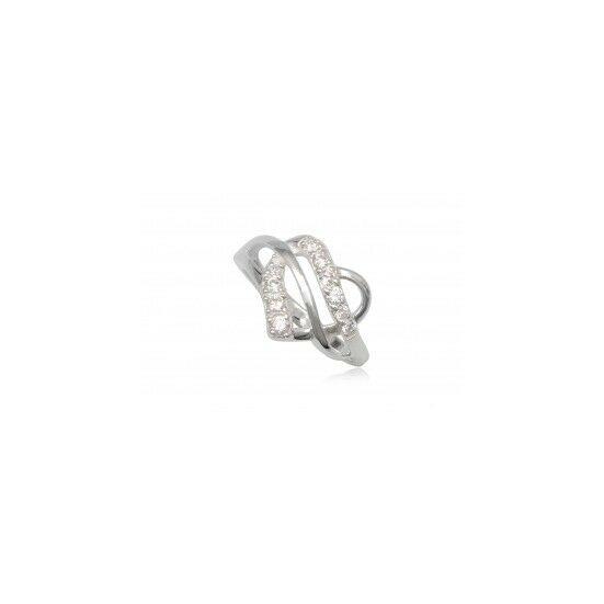 Szív alakú ezüst gyűrű fehér cirkónia kristállyal-6