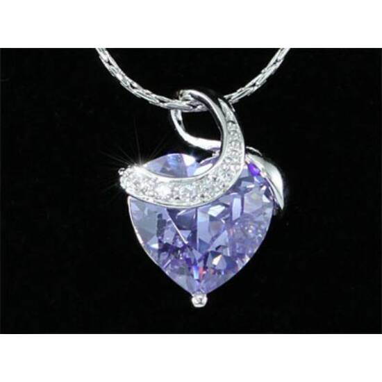 Szíves Swarovski kristályos nyaklánc-288