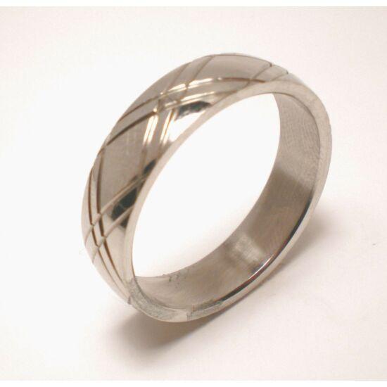 USA: 12.5-14 méretű nemesacél gyűrű ékszer