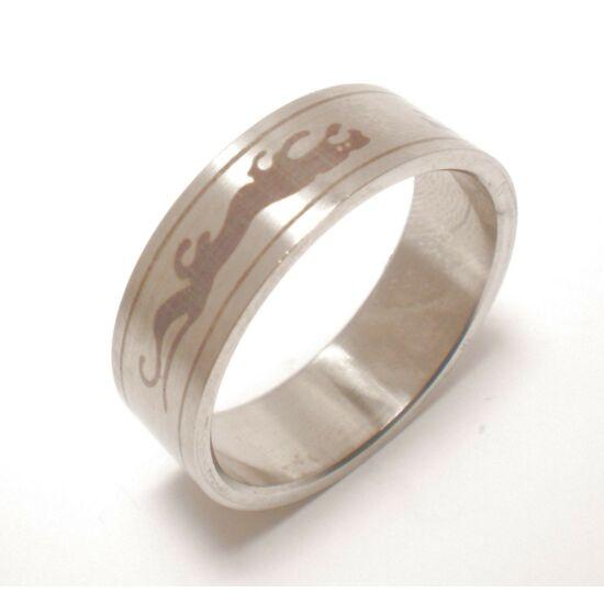 USA: 14-15 méretű nemesacél gyűrű ékszer