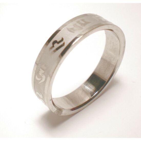 USA : 15 méretű nemesacél gyűrű ékszer