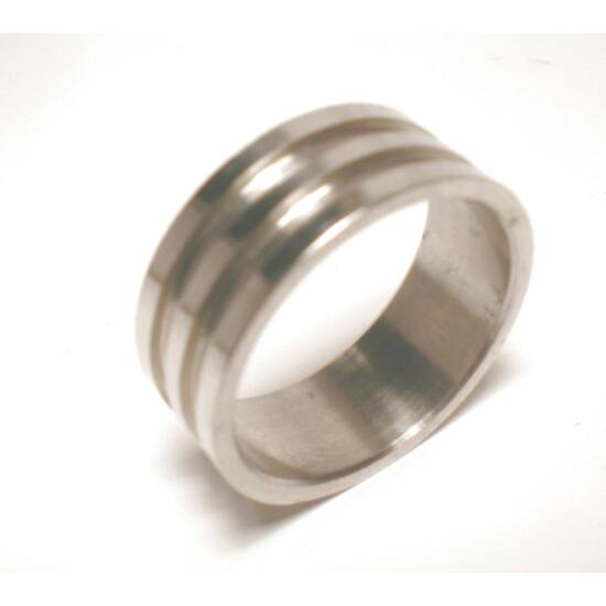 USA : 8 méretű nemesacél gyűrű ékszer