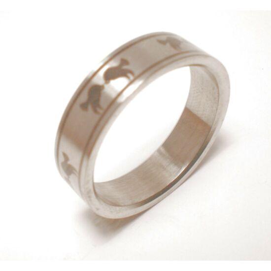 USA : 9-10.5 méretű nemesacél gyűrű ékszer