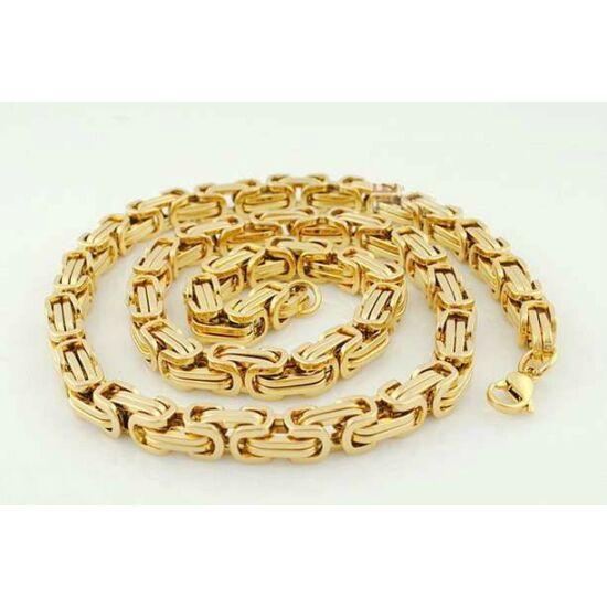 Vékony, arany színű királyfonatú szett