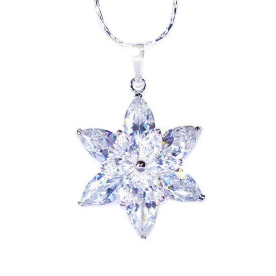 Virág Swarovski kristályos nyaklánc