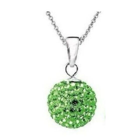 Zöld shamballa kristályos nyaklánc - II. osztályú termék