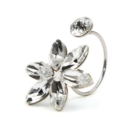 Zuriel SWAROVSKI® kristályos nemesacél gyűrű - Crystal