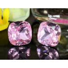 Lena Swarovski kristályos fülbevaló - Rózsaszin