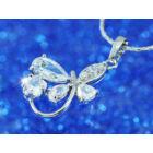 Swarovski kristályos nyaklánc: Ívelt szárú Pilangós  medállal