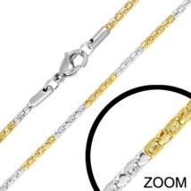 Arany és ezüst színű nemesacél nyaklánc ékszer