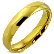 Arany színű, klasszikus nemesacél gyűrű ékszer