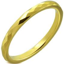 Arany színű, mintás nemesacél karikagyűrű-9
