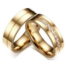 Arany színű nemesacél gyűrű-9 (férfi változat)