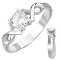 Egyköves nemesacél gyűrű ékszer