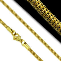 Elegáns hálószövésű aranyszínű nyaklánc
