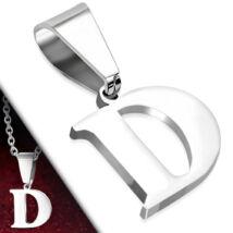 """Ezüst színű, nemesacél betű medál """"D"""""""