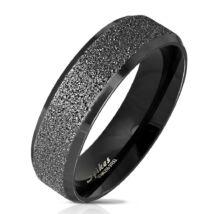 Fekete színű, homokfújt nemesacél gyűrű-11