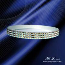 H. L. Jewel Swarovski® kristályos bőr karkötő - Crystal AB Sarki fény