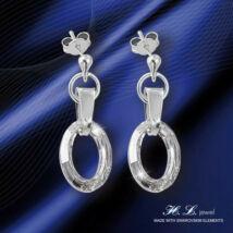 H. L. Jewel Swarovski® kristályos ezüst fülbevaló - Ovális Crystal