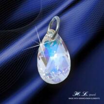 H. L. Jewel Swarovski® kristályos ezüst medál - Csepp Crystal AB