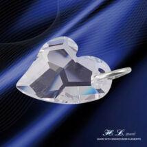 H. L. Jewel Swarovski® kristályos ezüst medál - Love Crystal