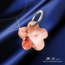 H. L. Jewel Swarovski® kristályos ezüst medál - Virág Rózsaszín