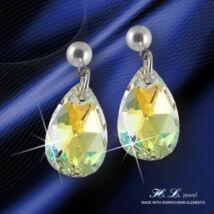 H. L. Jewel Swarovski® kristályos fülbevaló - Csepp Crystal AB