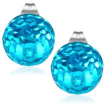 Kék színű gömb nemesacél fülbevaló ékszer