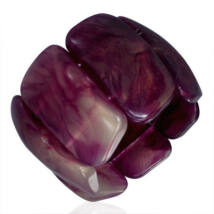 Lila színű, rugalmas akril karkötő