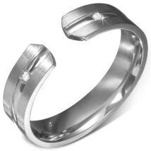 Moon ezüst színű nemesacél gyűrű ékszer