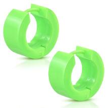 Neon zöld színű polimer anyagú fülbevaló