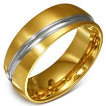 Paris 2 színű nemesacél gyűrű ékszer