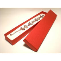 Piros színű karlánc és nyaklánc ékszertartó doboz (nyaklánc, karlánc)