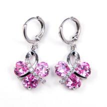 Polly Swarovski kristályos fülbevaló -Rózsaszin