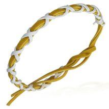 Sárga fehér fonott karkötő