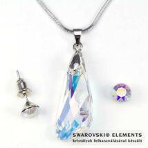 Swarovski kristályos szett - Szárny 27 mm, Crystal AB + díszdoboz