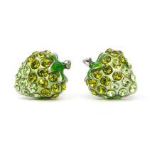 Zöld eper fülbevaló