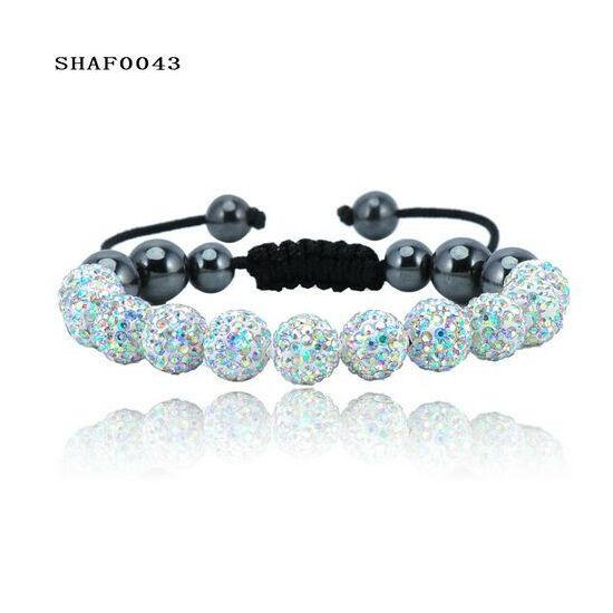 11 kristály gömbös shamballa karkötő - multi
