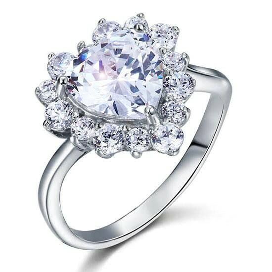 2.5 karátos ezüst gyémánt gyűrű-6