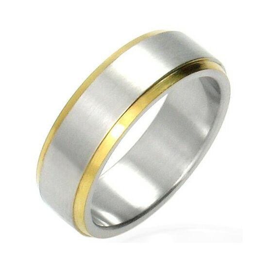 2 színű nemesacél gyűrű, karikagyűrű ékszer, gravírózható