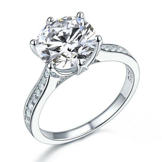 3 karátos ezüst gyémánt gyűrű-4