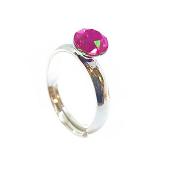 925 ezüst Gyűrű Swarovski® kristállyal - Light Rose