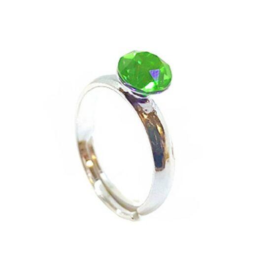 925 ezüst Gyűrű Swarovski® kristállyal - Peridot