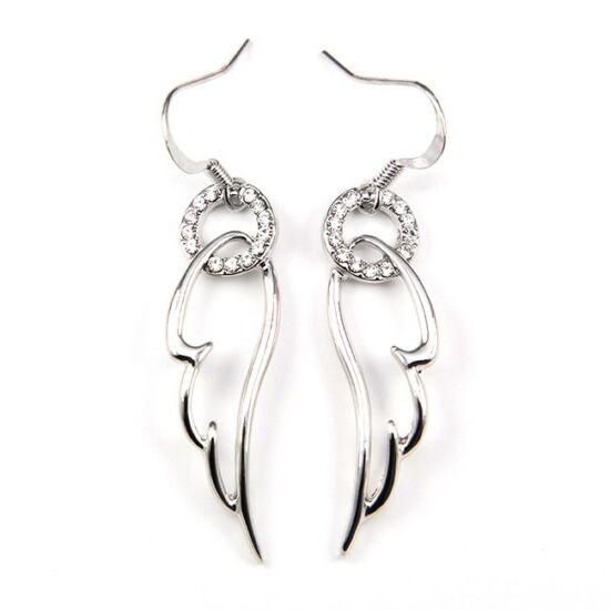 Angelic Swarovski kristályos fülbevaló - Ezüst színű