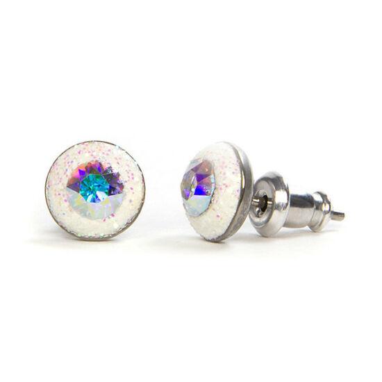 Apró Swarovski kristályos nemesacél fülbevaló - Crystal AB